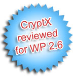 CryptX 1.9 reviewed for WP 2.6